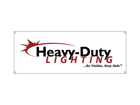 6' White Vinyl Banner - Heavy Duty Lighting