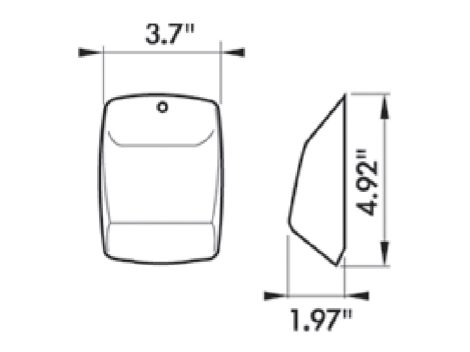 Square Cab Marker Replacement Light - Heavy Duty Lighting