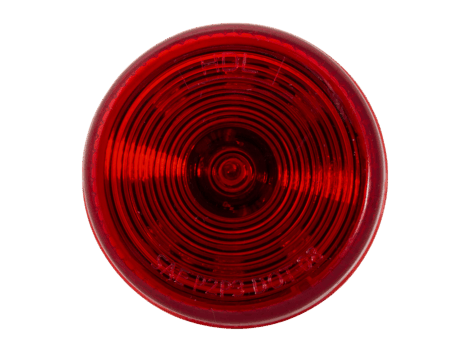 "2"" Round Red Clearance Marker Light  - Heavy Duty Lighting Products"