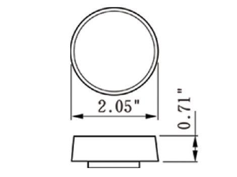 "2"" Round Amber Clearance Marker Light  - Heavy Duty Lighting"