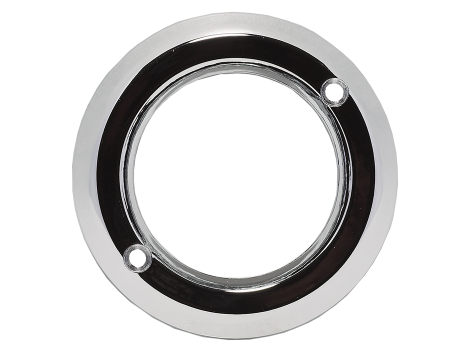 "2"" Chrome Plastic Bezel - Heavy Duty Lighting Products"