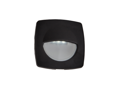 "2.2"" Square Interior Courtesy Light with Black Body - Heavy Duty Lighting"