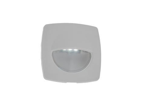 "2.2"" Square Interior Courtesy Light with White Body - Heavy Duty Lighting"