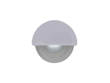 """2.25"""" Half Round Interior Courtesy Light  with White Body - Heavy Duty Lighting Products"""
