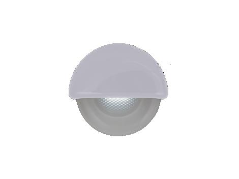"2.25"" Half Round Interior Courtesy Light  with White Body - Heavy Duty Lighting"