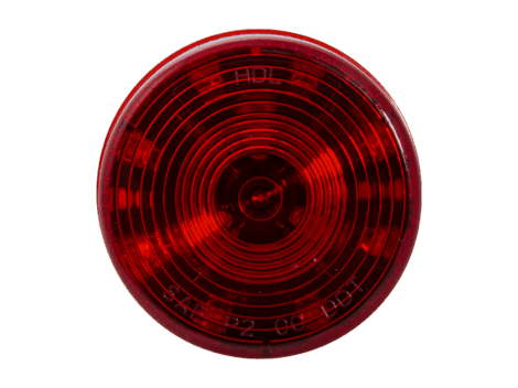 "2.5"" Round Red Clearance Marker Light  - Heavy Duty Lighting"