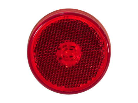 "2.5"" Flush Mount Reflex Lens Clearance Marker Light - Heavy Duty Lighting"