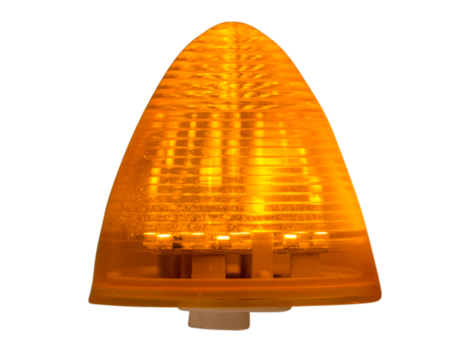 "2.5"" Beehive Amber Clearance Marker Light  - Heavy Duty Lighting Products"