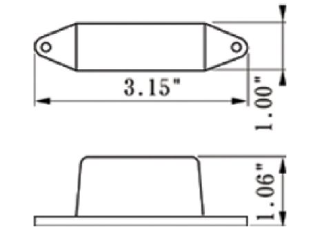 "3"" Rectangular Clearance Marker Light - Heavy Duty Lighting"
