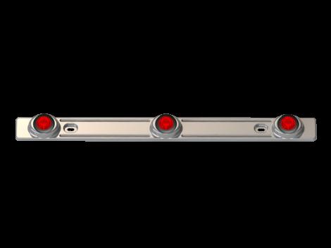 3 Light Stainless Steel ID Bar - Heavy Duty Lighting