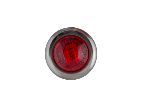 """3/4"""" Mini Round Red Clearance Marker Light with Stainless Bezel - Heavy Duty Lighting"""