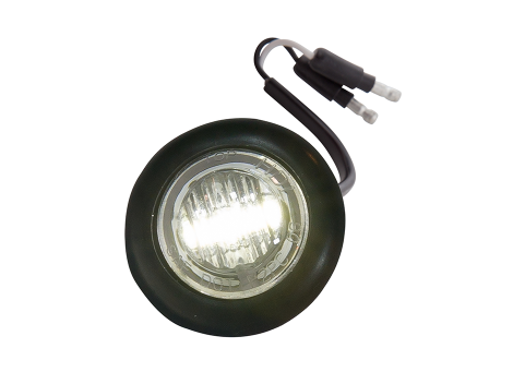 Mini Round Clear/White Flush Mount Utility Light - Heavy Duty Lighting Products