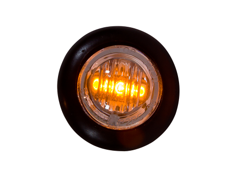 Mini Round Clear/Amber 3-Wire Clearance Turn Marker Light - Heavy Duty Lighting