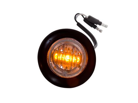 Mini Round Clear/Amber 2-Wire Clearance Marker Light - Heavy Duty Lighting Products