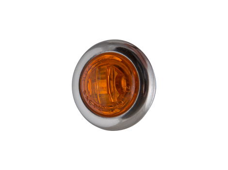 """3/4"""" Mini Round Amber Clearance Marker Light with Stainless Bezel - Heavy Duty Lighting Products"""