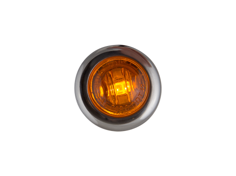 """3/4"""" Mini Round Amber Clearance Marker Light with Stainless Bezel - Heavy Duty Lighting"""
