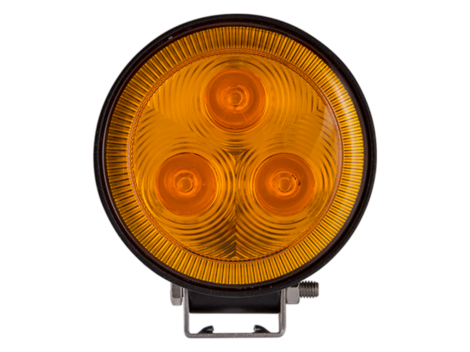 3 LED Mini Round Spot Light / Amber Lens - Heavy Duty Lighting Products