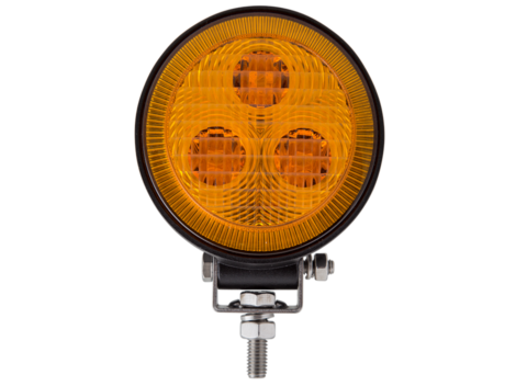 3 LED Mini Round Flood Light / Amber Lens - Heavy Duty Lighting