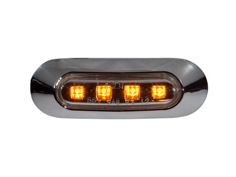 "3.75"" Oval Clearance Marker Light - Heavy Duty Lighting"