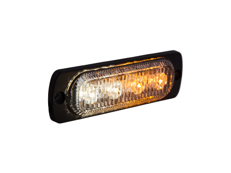 Ultra Thin Amber/White Surface Mount LED Strobe Lighthead - Heavy Duty Lighting Products