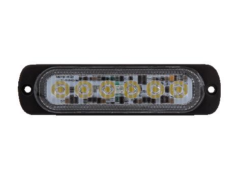 Ultra Thin White Surface Mount LED Strobe Lighthead - Heavy Duty Lighting
