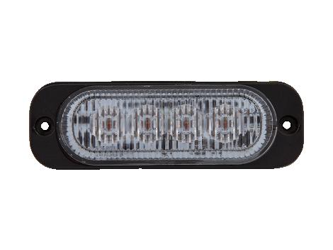 Ultra Thin Amber Surface Mount LED Strobe Lighthead - Heavy Duty Lighting