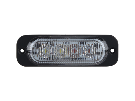 Ultra Thin Amber/White Surface Mount LED Strobe Lighthead - Heavy Duty Lighting