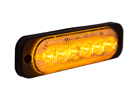 Ultra Thin Amber Surface Mount LED Strobe Lighthead - Heavy Duty Lighting Products