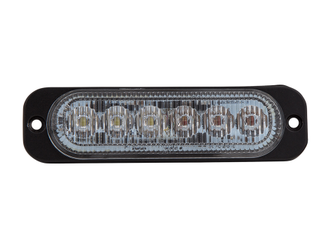 Ultra Thin Amber/White Surface Mount LED Strobe Lighthead - Heavy Duty Lighting