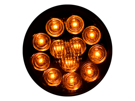 "4"" Round Clear Lens Park Turn Light - Heavy Duty Lighting"