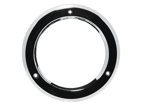 "4"" Chrome Plastic Bezel - Heavy Duty Lighting Products"