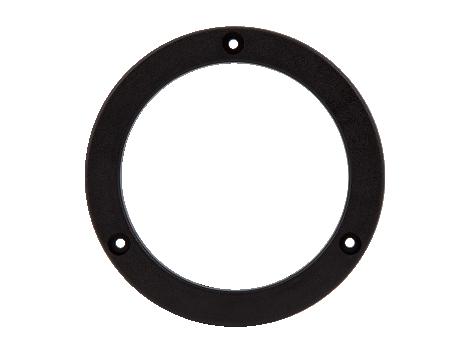 "4"" Round Black Snap Flange - Heavy Duty Lighting"