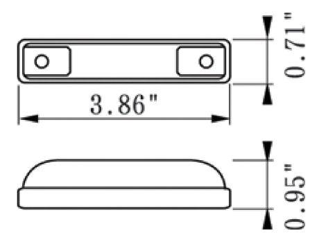 """4"""" Slim Line 2 Wire Clearance Marker Light - Heavy Duty Lighting"""