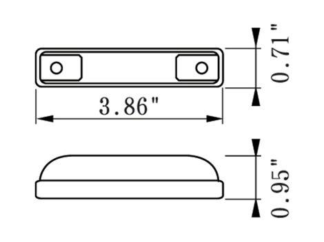 """4"""" Slim Line 3 Wire Clearance Marker Light - Heavy Duty Lighting"""