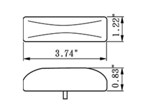 "4"" Rectangular Clearance Marker Light - Heavy Duty Lighting"