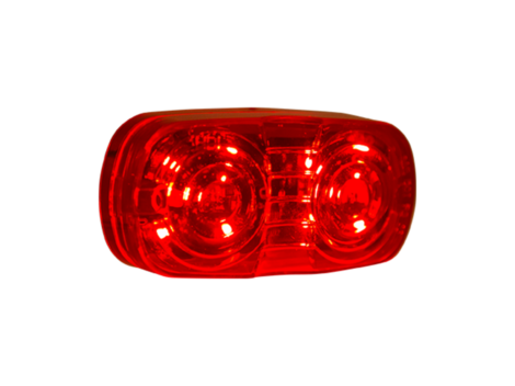 "4"" Red w/Clear Lens Double Bulls Eye Clearance Marker - Heavy Duty Lighting Products"