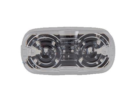 """4"""" Amber w/Clear Lens Double Bulls Eye Clearance Marker - Heavy Duty Lighting"""