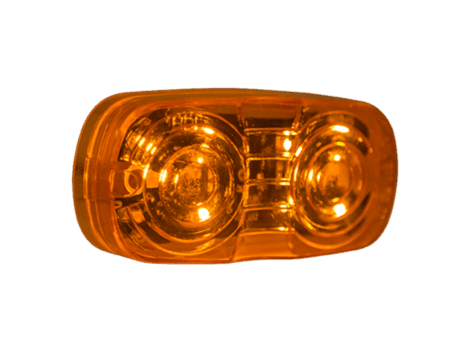 "4"" Amber w/Clear Lens Double Bulls Eye Clearance Marker - Heavy Duty Lighting Products"
