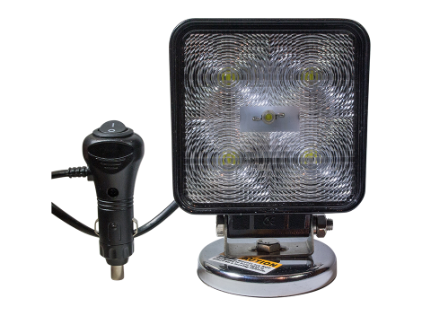 High Output Square Magnetic Base Work Light - Heavy Duty Lighting