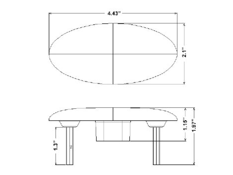 Peterbilt®  Oval Side Marker Turn Light - Heavy Duty Lighting