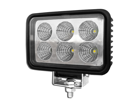 High Output Rectangular Work Light - Heavy Duty Lighting Products