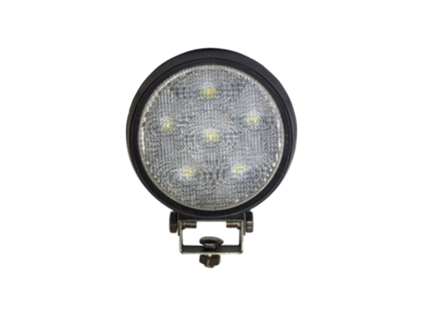 High Output Round Work Light | Rubber Housing - Heavy Duty Lighting