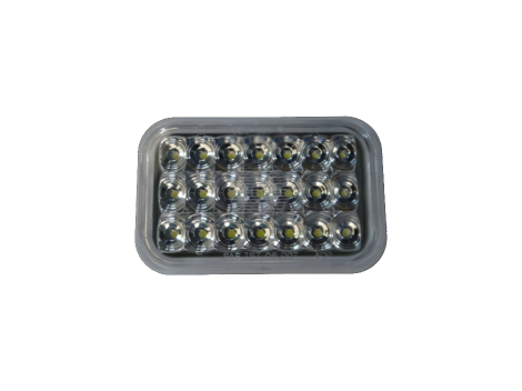 "5"" Rectangular White Backup Light - Heavy Duty Lighting Products"