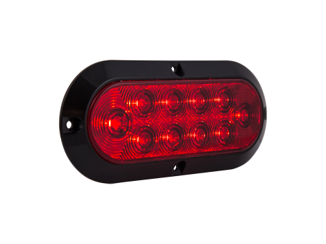 "6"" Oval Surface Mount Stop Tail Turn Light - Heavy Duty Lighting Products"