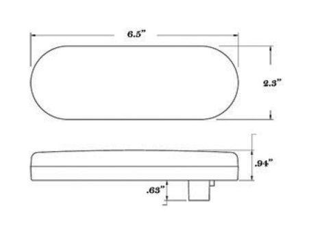 "6"" Oval Stop Tail Turn Light - Heavy Duty Lighting"