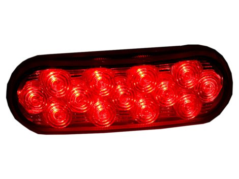 "6"" Oval Clear Lens Stop Tail Turn Light - Heavy Duty Lighting Products"