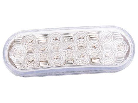 "6"" Oval Clear Lens Stop Tail Turn Light - Heavy Duty Lighting"