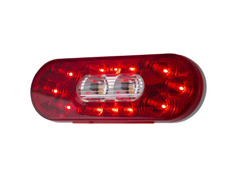 "6"" Oval Combination Stop Tail Turn with Backup Light - Heavy Duty Lighting"