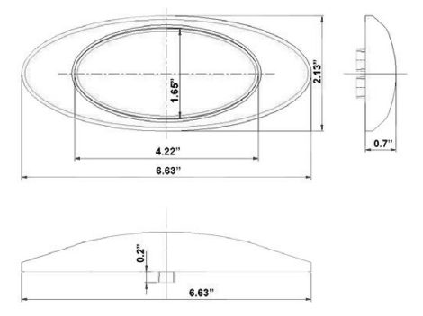 "6"" Oval Clear Lens Utility Light - Heavy Duty Lighting"