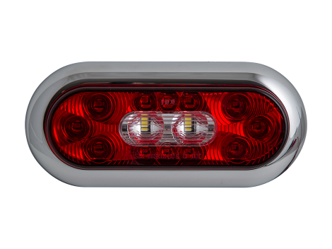 "6"" Oval Surface Mount Combination Stop Tail Turn with Backup Light - Heavy Duty Lighting Products"